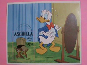 ANGUILLA  STAMP:1981-DISNEY  DONALD DUCK-CHRISTMAS- STAMPS CTO -MNH STAMP SHEET.