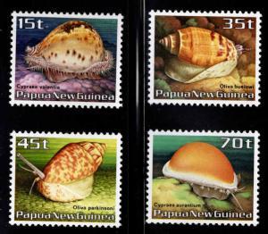 PNG Papua New Guinea Scott 636-639 MNH** Shell set