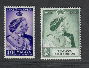 Malaya Negri Sembilan Sc#36-37 M/NH/VF, Cv. $28.10