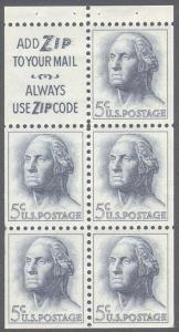 1213a Booklet Pane with Tab Mint NH OG VF