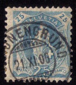 Switzerland Sc 94 Bluish Used F-VF