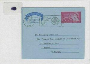 england-tazmania air letter ref 8623