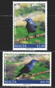 Malta. 2019. 2057-58. Birds, Europe-Sept. MNH.