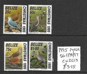 Belize MNH 1194-7 Christmas Birds 1995