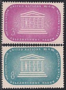 United Nations 33-34 MNH - UNESCO