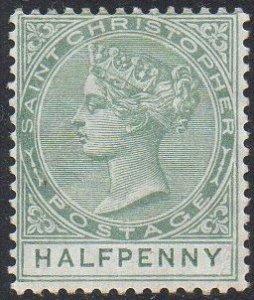 St Christopher 1882 ½d dull green MH