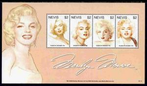 Nevis 2007 80th Birthday Anniv Marilyn Monroe perf sheetl...