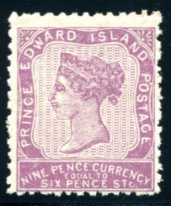 PRINCE EDWARD ISL: Sc.#8  **  9d. Violet, CHOICE NEVER HINGED example, Very F...