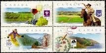 Canada 1653a 1997 Scenic Highways Block MNH