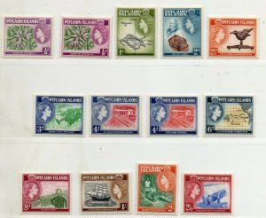 PITCAIRN ISLANDS QEII 1957 SG 18 TO SG 28 MLH SET ½d TO 2s/-6d incl.Shades