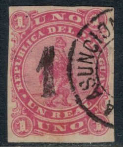 Paraguay #19  CV $8.00  First stamp surcharged