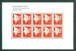 Denmark.  Christmas Seal Souvenir Sheet 1933/89 Reprint. Mnh. See Condition