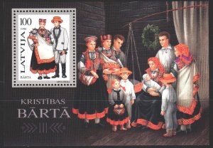 Latvia. 1996. bl 7. Latvian folk costumes. MNH.