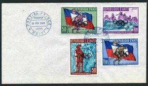 Haiti 451,C148-C150 FDC.Michel 595-598. Olympics Squaw Valley-1960.Overprinted.