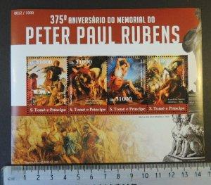 St Thomas 2015 peter paul rubens statues art m/sheet mnh