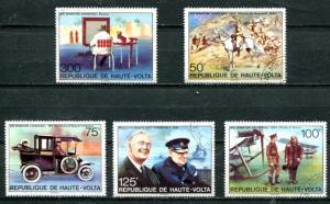 BURKINA FASO 1975 WINSTON CHURCHILL - ROOSEVELT - CAR - HORSES SET COMPLETE!