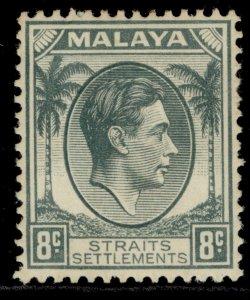 MALAYSIA - Straits Settlements GVI SG283, 8c grey, M MINT. Cat £38.