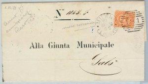 64278 - ITALIA REGNO - STORIA POSTALE : 20 cnt UMBERTO su busta nel 1879!!