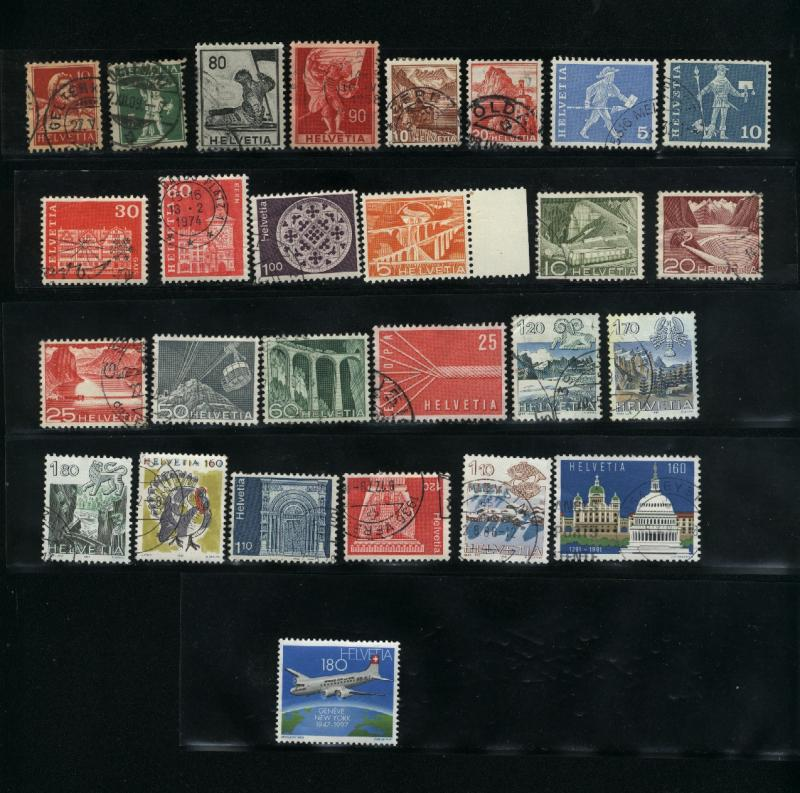 Switzerland  27 different Mint & used  PD