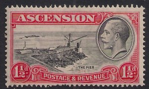 Ascension Island 1934 KGV 1 1/2d The Pier MM SG 23 ( B446 )