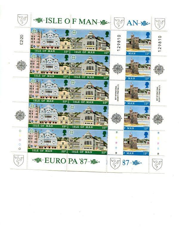 Isle of Man 1987 Europa sheet VF NH  - Lakeshore Philatelics
