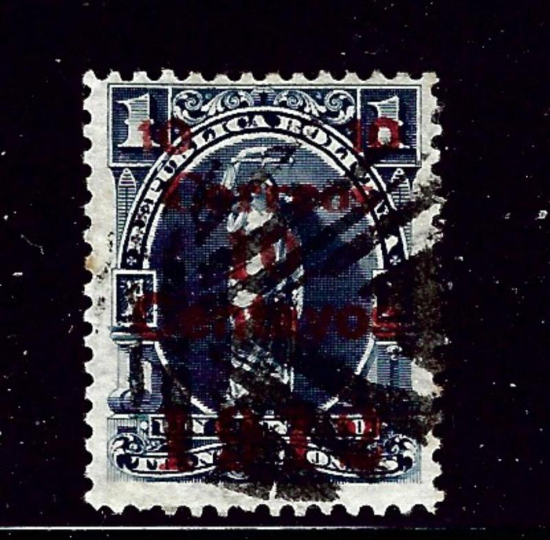 Bolivia 101 Used 1912 overprint hvy cancel