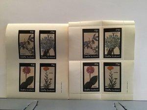 Staffa Scotland plant flowers Agapanthus Atragene MNH stamps  R25312
