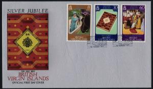 Virgin Islands 317-9 on FDC - Queen Elizabeth Silver Jubilee