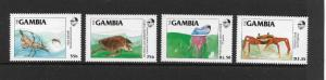 MARINE LIFE - GAMBIA  #538-41  MNH
