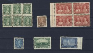 14x Canada Mint Stamps 6x #211-212 4x 213-214-215-216 Guide Value = $56.00