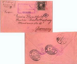 United States Washington Franklins 15c Washington Franklin 1921 New York (Cit...
