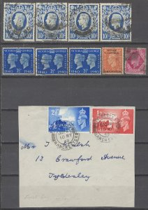 COLLECTION LOT # 2378 GREAT BRITAIN 11 STAMPS 1939+ CLEARANCE