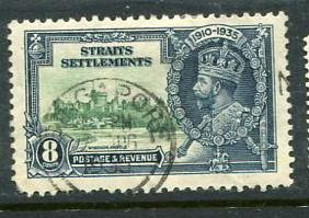 Straits Settlements #214 Used