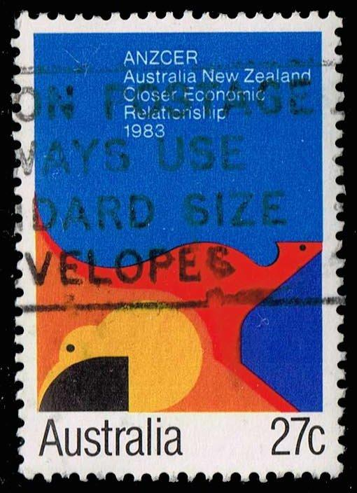 Australia #863 ANZCER Agreement; Used (0.30)
