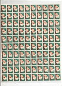 1951 CHRISTMAS SEALS, FULL SHEET
