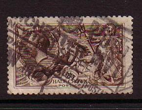 Great Britain Sc 173 1913 2/6d GV & Seahorse  stamp used