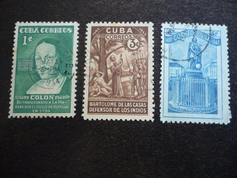 Stamps - Cuba - Scott# 387-391,C36-C37 - Used Set of 7 Stamps