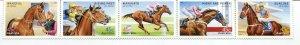 Australia 2002 Scott 2103-07 2107a Horses Strip of 5 - NH