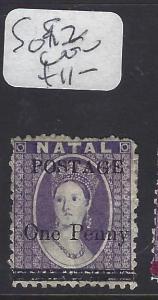 NATAL  (P0801B)  QV  POSTAGE 1D/6D   SG 92   VFU