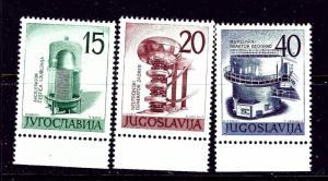 Yugoslavia 582-84 MNH 1960 Atomic Accelerator