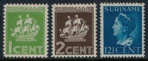 Surinam #168-9,174*  CV $5.00