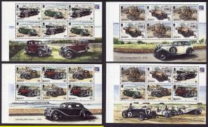Jersey-SC#904a/908b-4 booklet panes-unused-NH-Antique Cars-