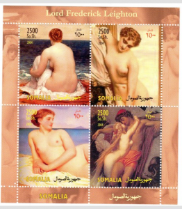Somalia 2004 FREDERIC LEIGHTON Nudes Paintings Sheet Perforated Mint (NH)