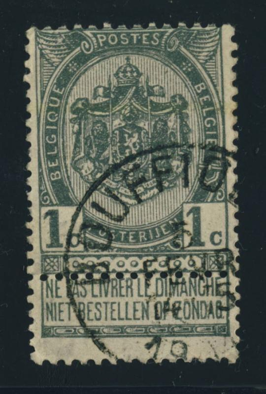 BELGIQUE BELGIUM - OBLITÉRATION RONDE BOUFFIOULX SUR COB 53 - 1904