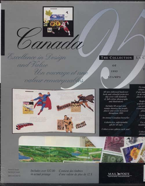 1995 Annual Mint Souvenir Collection Stamps of Canada - History of Canadian Golf