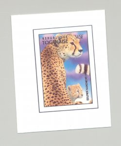 Togo #1723 Leopard, Wild Cats 1v Imperf Chromalin Proof