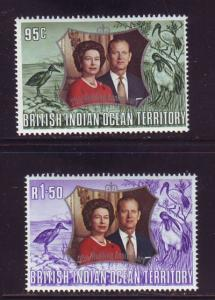 British Indian Ocean Terr Sc 48-9 1972 Silver Wedding QE ...