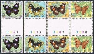 Tuvalu 146-149 gutter,MNH.Michel 190-193. Butterflies 1981.