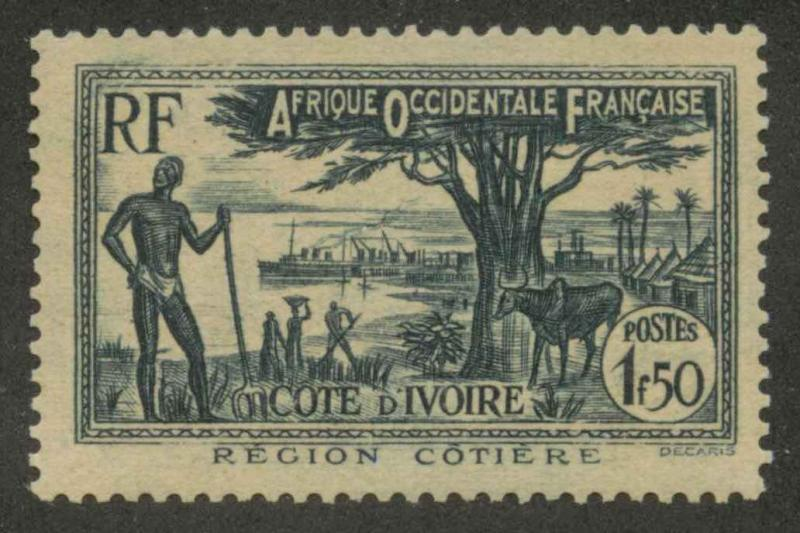 Ivory Coast 141A Mint VF NH
