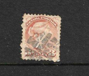 CANADA 1870-89  3c COPPER RED  QV  FU   Sc 37b